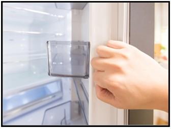 冷蔵庫ドアポケットの写真